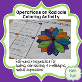 Operations on Radical Expressions Coloring Activity