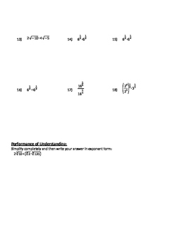 Operations on Radical Expressions - Notes