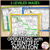 Operations using Scientific Notation Mazes 3 Differentiate