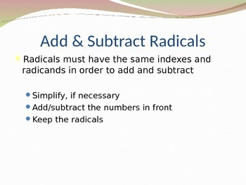 Operations with Binomial Radical Expressios