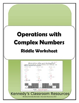Operations with Complex (Imaginary) Numbers - Riddle Worksheet