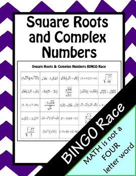 Operations with Complex Numbers BINGO Race