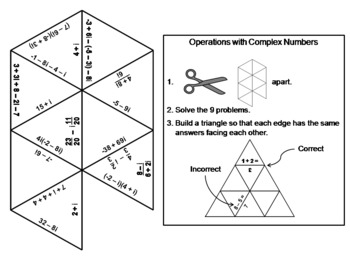 Operations with Complex Numbers Game: Math Tarsia Puzzle