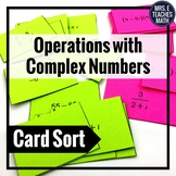 Complex Numbers Operations Card Sort