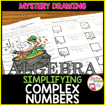 St. Patrick's Day Math Operations with Complex Numbers Mystery Drawing