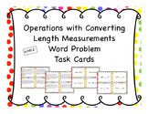Operations with Converting Length Differentiated Word Problem Task Cards