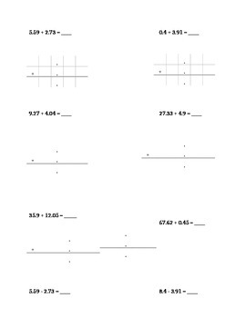 Operations with Decimals