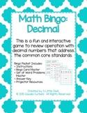 Operations with Decimals Bingo Game