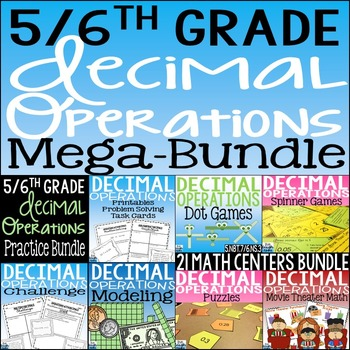 Decimal Operations Mega Bundle