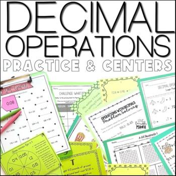 Decimal Operations Mega Bundle