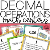 Decimal Operations Math Centers