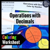 Operations with Decimals Color By Number  6.NS.3
