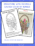 Operations with Decimals-Color by Number