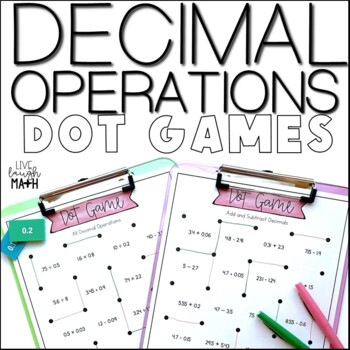 Decimal Operations Math Centers: Dot Games