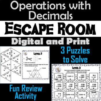 Operations with Decimals: Escape Room Math