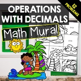 Operations with Decimals - Math Mural
