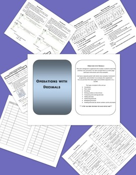 Operations with Decimals Notes and Examples - Supplement t