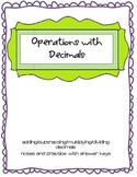 Operations with Decimals Notes and Practice