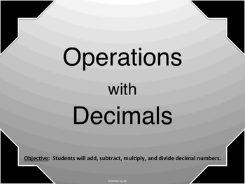 Operations with Decimals Presentation