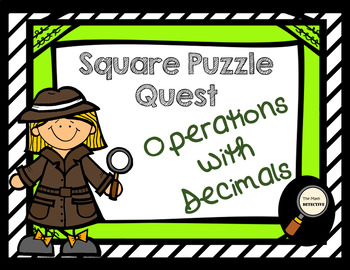 Operations with Decimals - Square Puzzle Quest