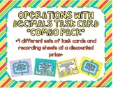 Operations with Decimals Task Card *COMBO PACK*