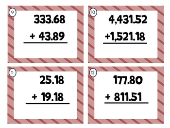 Operations with Decimals Task Cards (Add, Subt., Mult., Div.)