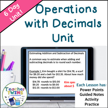 Operations with Decimals Unit Common Core 6.NS.2 and 6. NS.3
