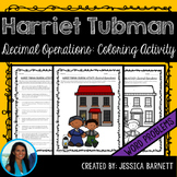 Operations with Decimals Word Problems Coloring Page: Harriet Tubman