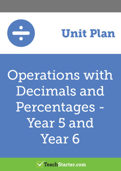 Operations with Decimals and Percentages Unit Plan – Year 5 and Year 6