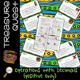 Operations with Decimals (positive numbers) - Treasure Quest Adventure