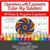 Operations with Exponents Color-by-Number!