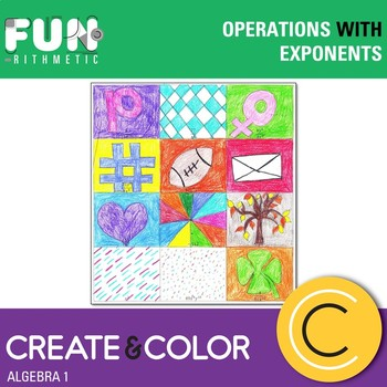 Operations with Exponents Create and Color