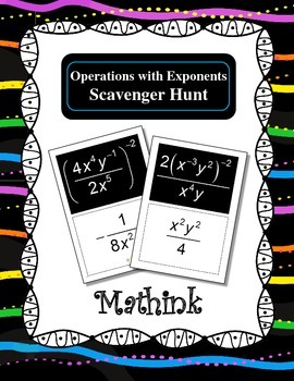 Operations with Exponents Scavenger Hunt