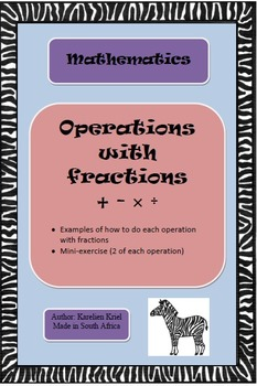 Operations with FRACTIONS (PDF)