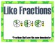 Operations with Fractions 4th Grade My Math Vocabulary Posters