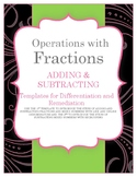 Operations with Fractions:  Adding & Subtracting Fractions & Mixed Numbers