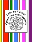 Operations with Fractions Color by Number