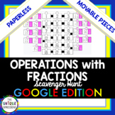 Operations with Fractions Digital Scavenger Hunt for Distance Learning