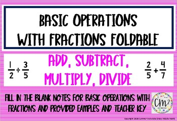 Operations with Fractions Foldable