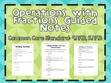 Operations with Fractions Notes