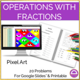 Operations with Fractions Pixel Art Activity Google Sheets