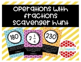 Operations with Fractions Activity Scavenger Hunt