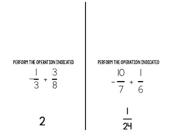 Operations with Fractions Scavenger Hunt Activity