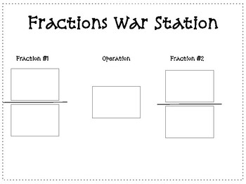 Operations with Fractions Station/Math Center