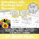 Operations with Fractions and Decimals -(6th Grade Math TEKS 6.2E,6.3A-B,&6.3E))