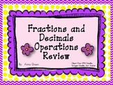 Operations with Fractions and Decimals Review Activity