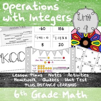 Operations with Integers -(6th Grade Math TEKS 6.2B & 6.3C-D)