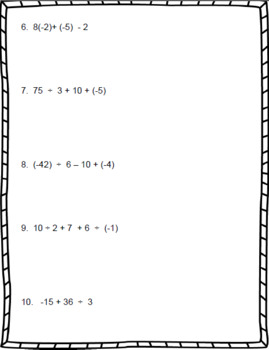 Operations with Integers – 7th Grade Number System