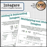 Operations with Integers Positive Negative Numbers Handout