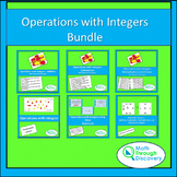 Algebra 1 - Operations with Integers Bundle